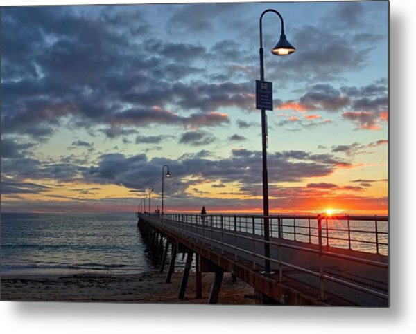 Glenelg Sunset Metal Print