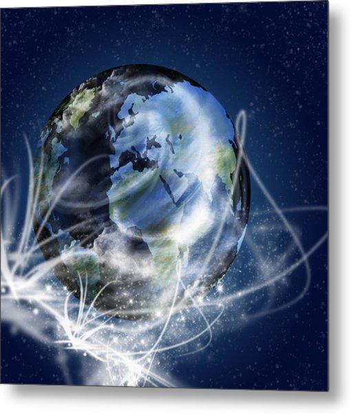 Globe Metal Print