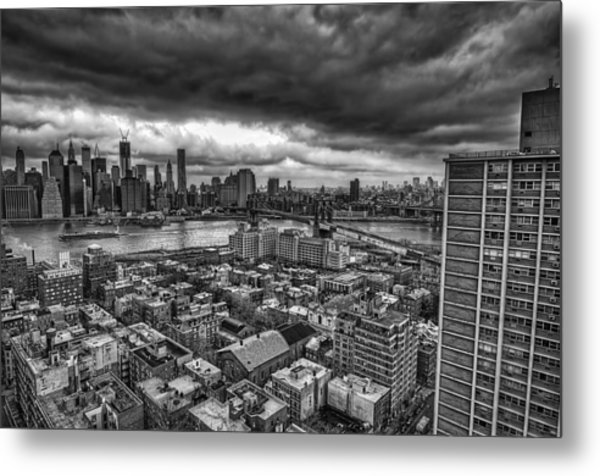 Gloomy New York City Day Metal Print