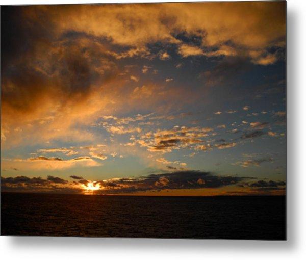Glorious Sunrise On The Indian Ocean Metal Print