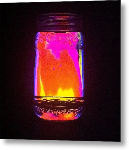 Glowing Jar Metal Print