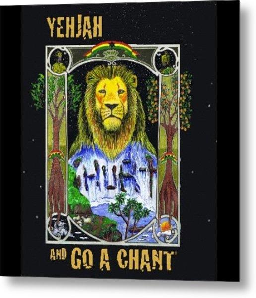Go A Chant Cover Desing #arte#art Metal Print