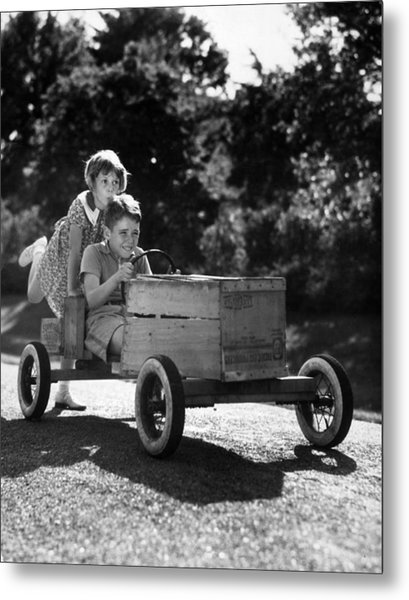 Go-carting Metal Print by Archive Photos