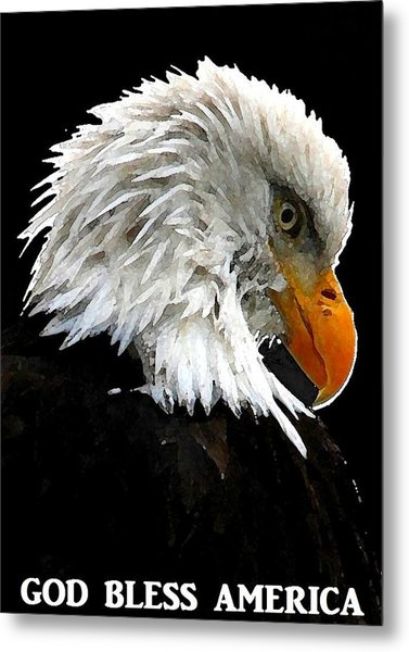God Bless America Metal Print by Carrie OBrien Sibley