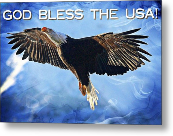 God Bless The Usa Metal Print by Carrie OBrien Sibley