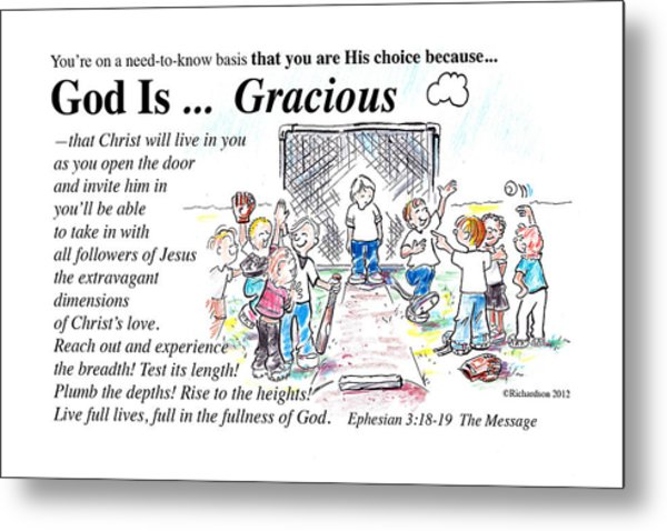 God Is Gracious Metal Print