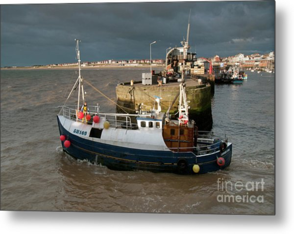 Going To Catch Lobsters Metal Print by David  Hollingworth