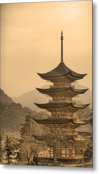Goju-no-to Pagoda Metal Print by Karen Walzer