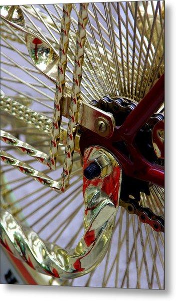 Gold Low Rider Spokes Metal Print by Tam Graff
