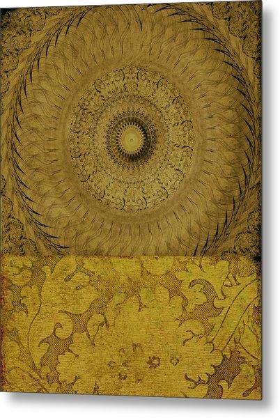 Gold Wheel I Metal Print by Ricki Mountain