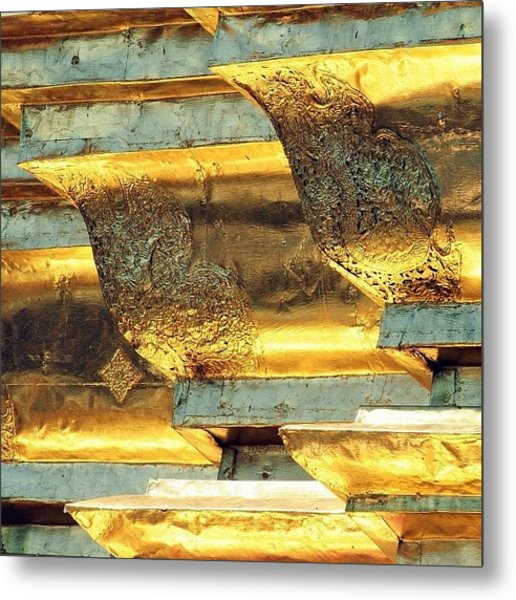 Gold..always Believe In Your Metal Print