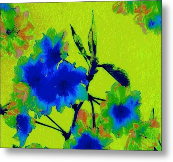 Golden Blossom Metal Print by Jen White