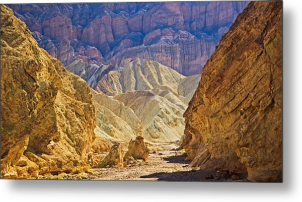 Golden Canyon At Death Valley Metal Print