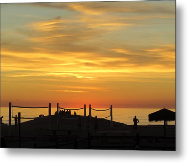 Metal Print featuring the photograph Golden Coast Sunset by Margaret Pitcher