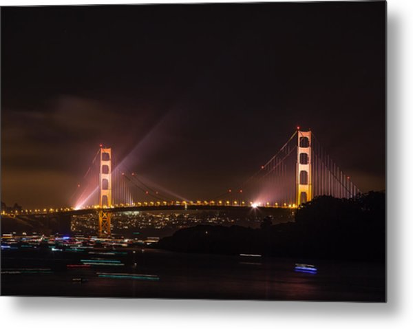 Golden Gate 75th - After The Fireworks Metal Print