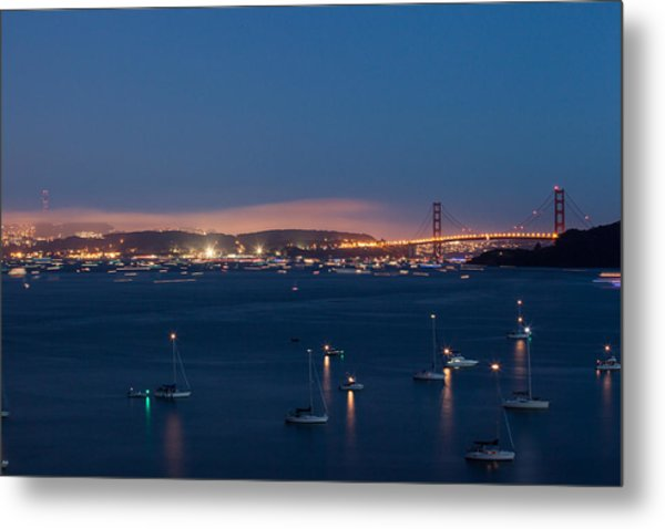 Golden Gate 75th Fireworks The Gathering Metal Print