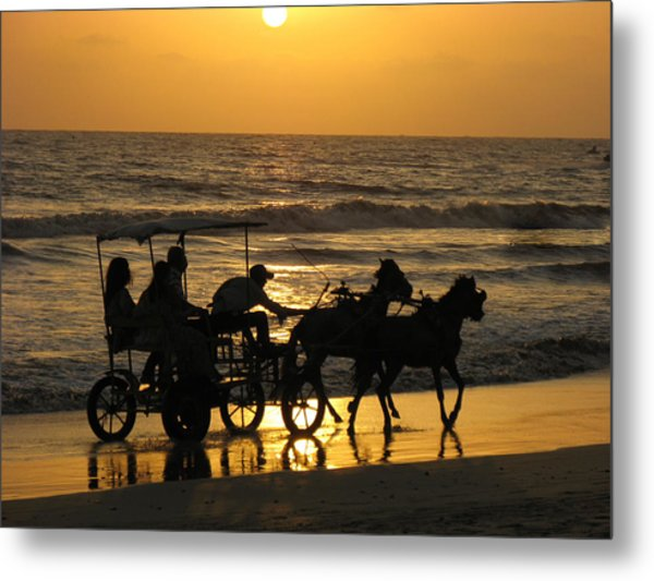 Golden Rides Metal Print by Kanan Trivedi