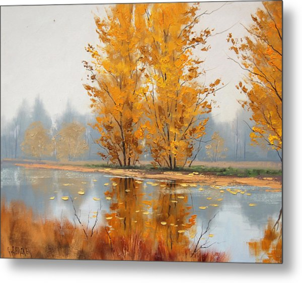 Golden Stillness  Metal Print