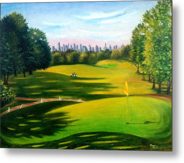 Golf Course At Forest Park Metal Print