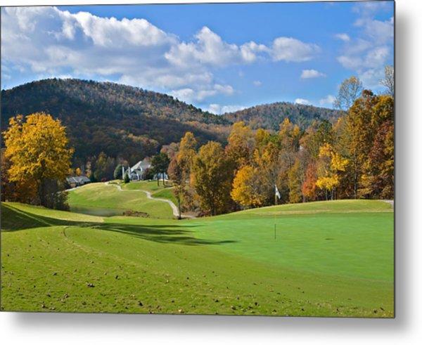 Golf Course In Autumn Metal Print