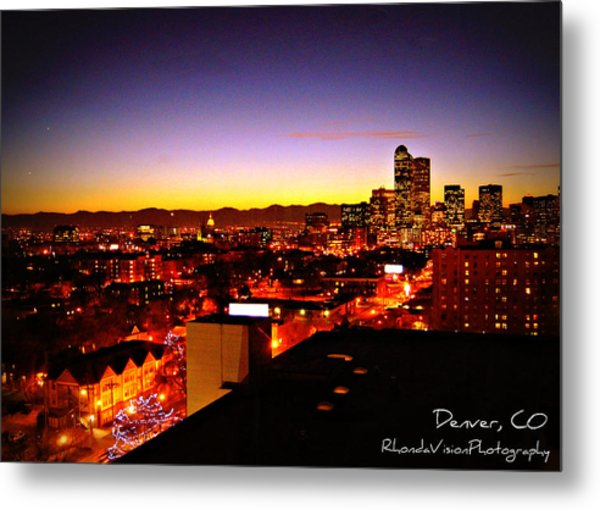 Good Night Mile High Metal Print by Rhonda DePalma