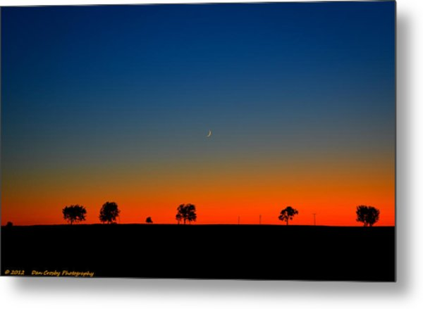 Good Night Moon Metal Print by Dan Crosby