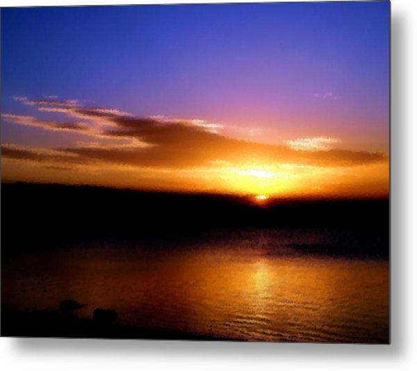 Gorgeous Sunset  Metal Print by Karen Scovill