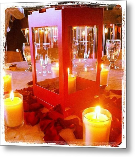 Gorgeous Wedding Center Pieces Metal Print