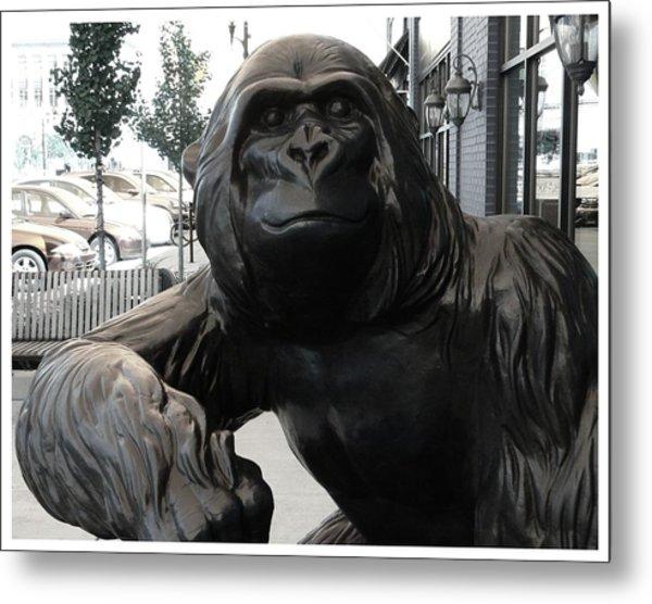 Gorilla On So Bend Street Metal Print
