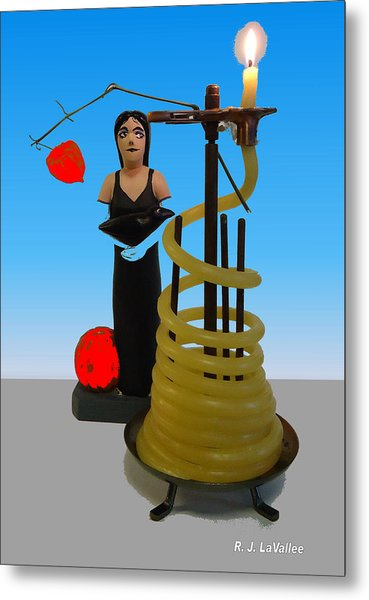 Goth And Candle Metal Print