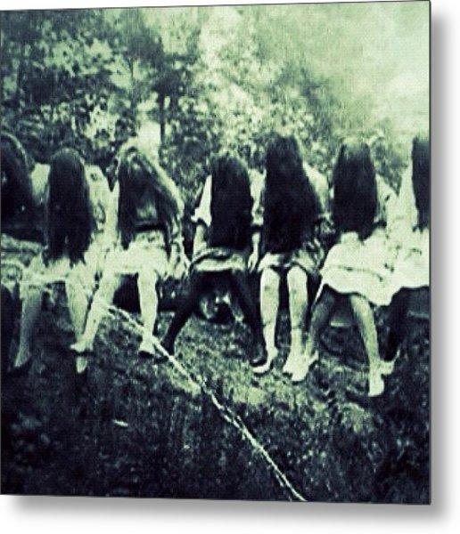 #gothic #goth#girls#longhair #art Metal Print