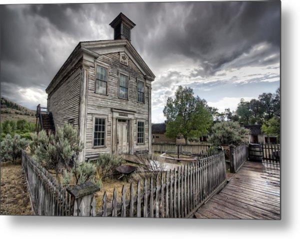 Gothic Masonic Temple 2 - Bannack Ghost Town Metal Print