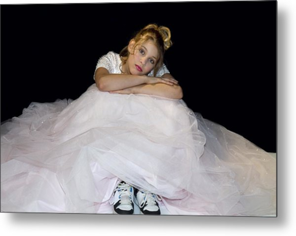 Gown And Sneakers Metal Print by Trudy Wilkerson