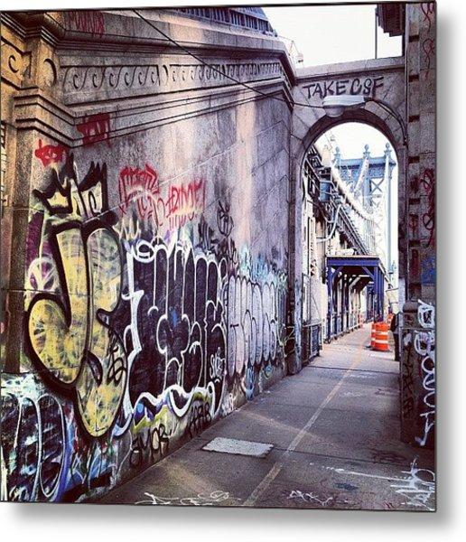 Graffiti Bridge Metal Print