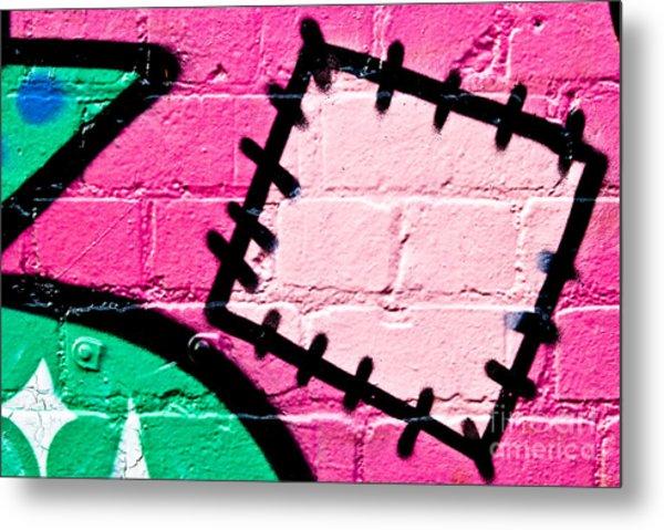 Graffiti Patch Closeup Metal Print