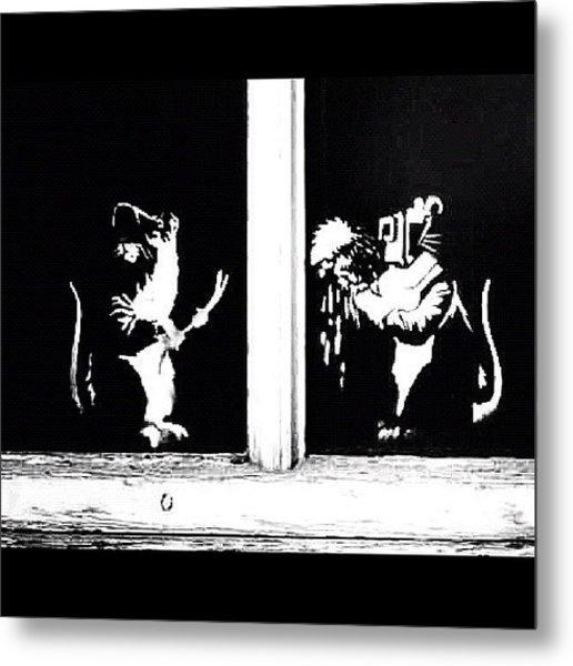#graffiti #streetart #stencil #banksy Metal Print