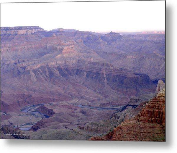 Grand Canyon Pastiche Metal Print