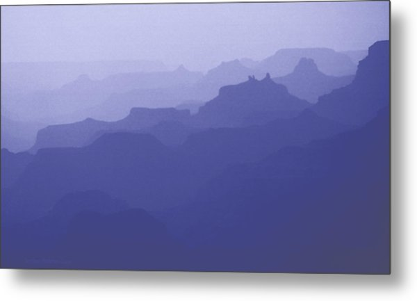 Grand Canyon Silhouettes Metal Print