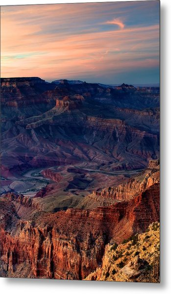 Grand Canyon Sunset Metal Print by C Thomas Willard