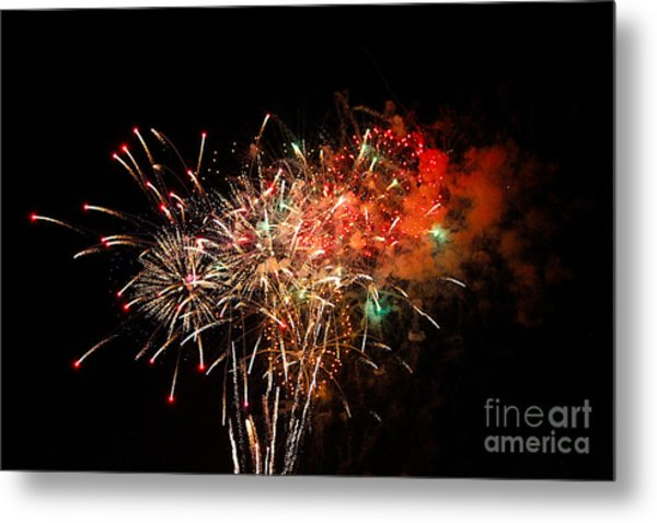 Grand Haven Mi Fireworks Metal Print by Robert Pearson