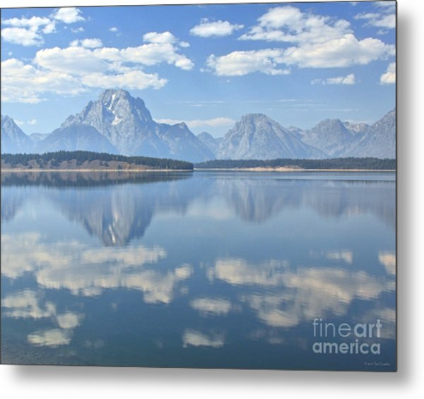 Grand Teton National Park Mountain Lake Reflctions Metal Print