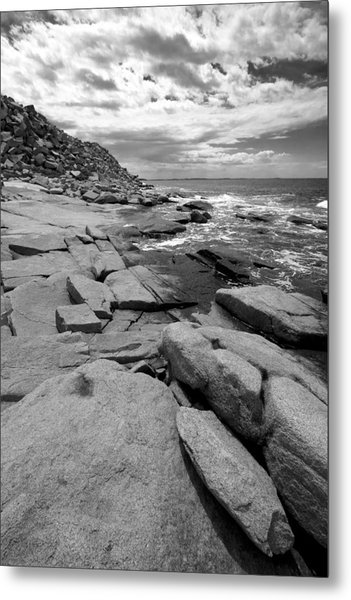 Granite Shore Metal Print