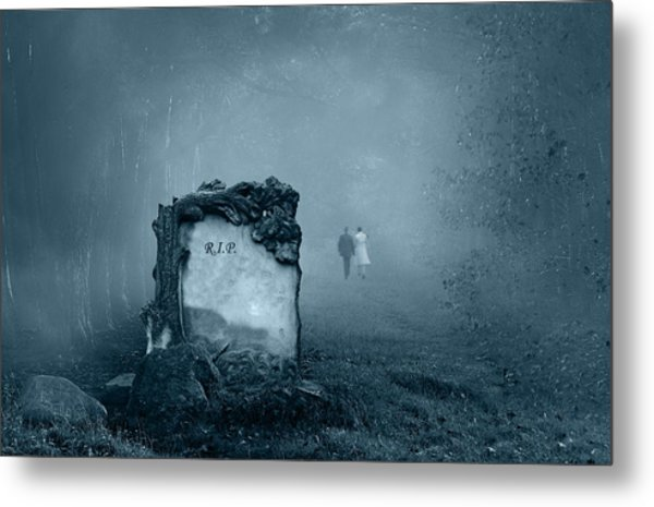 Grave In A Forest Metal Print