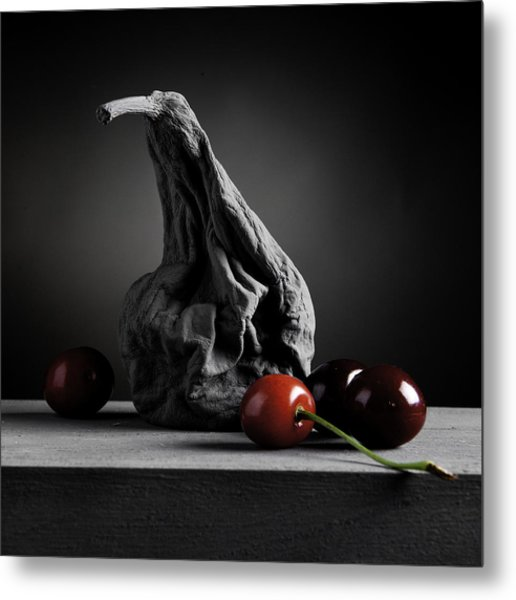 Gray Variations - Ages Metal Print by Ovidiu Bastea