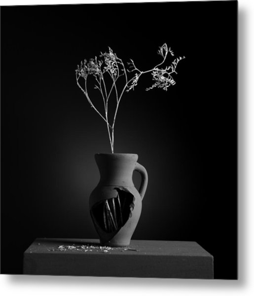 Gray Variations - Roots Metal Print by Ovidiu Bastea