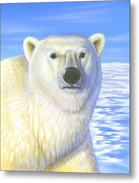 Great Ice Bear Metal Print