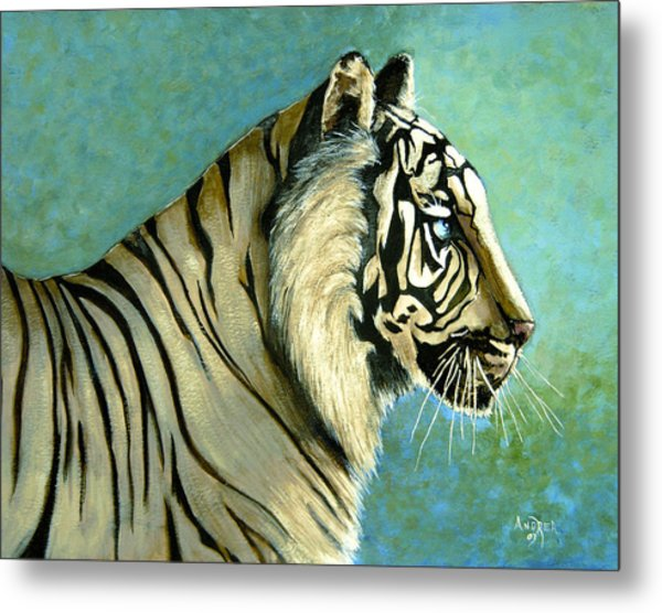 great White Hunter Metal Print by Andrea Camp