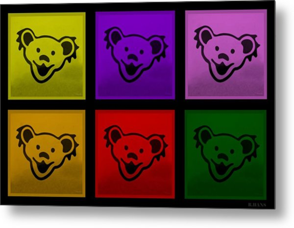 Metal Print featuring the photograph Greatful Dead Dancing Bears In Multi Colors by Rob Hans