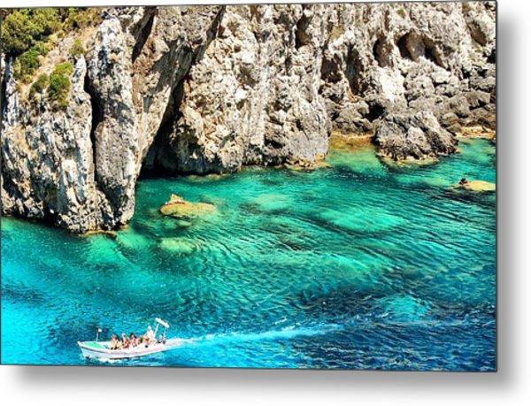 Greece Corfu Island Metal Print by Meeli Sonn