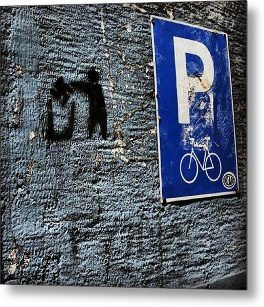 #greece #urban #street #citylife Metal Print
